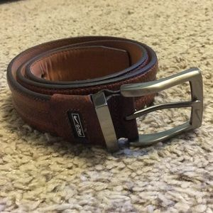 Nike Golf G-Flex Brown Genuine Leather Belt